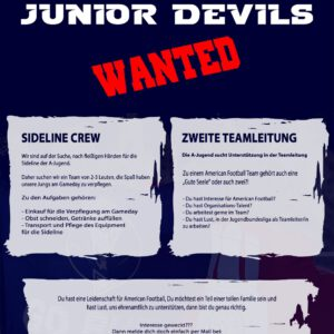Junior Devils – WANTED!