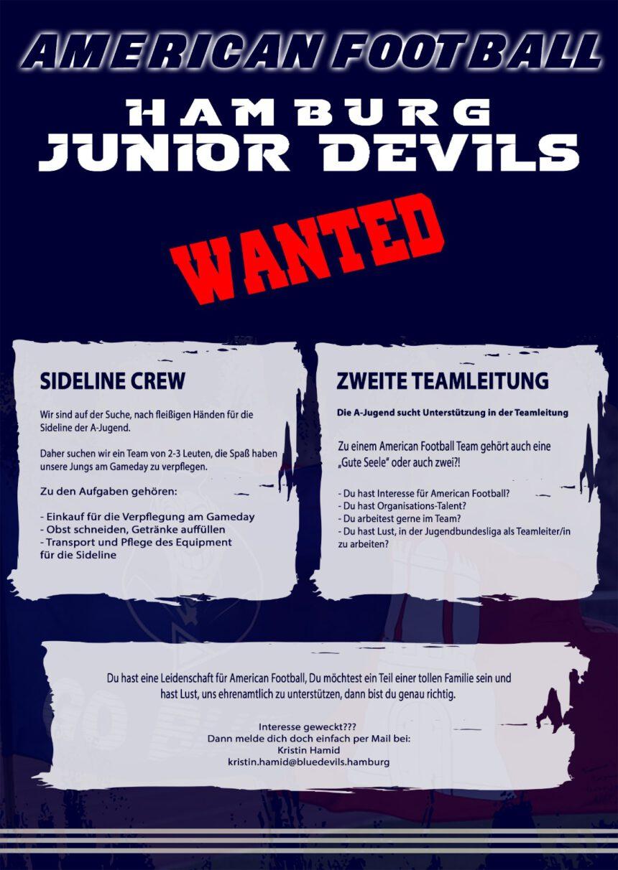 Junior Devils – WANTED!